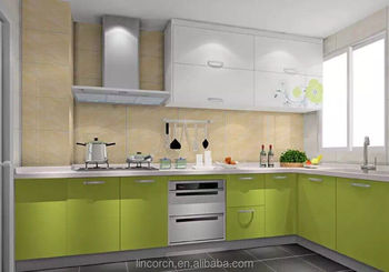 2016 European standard modern color stainless steel overall kitchen cabinets