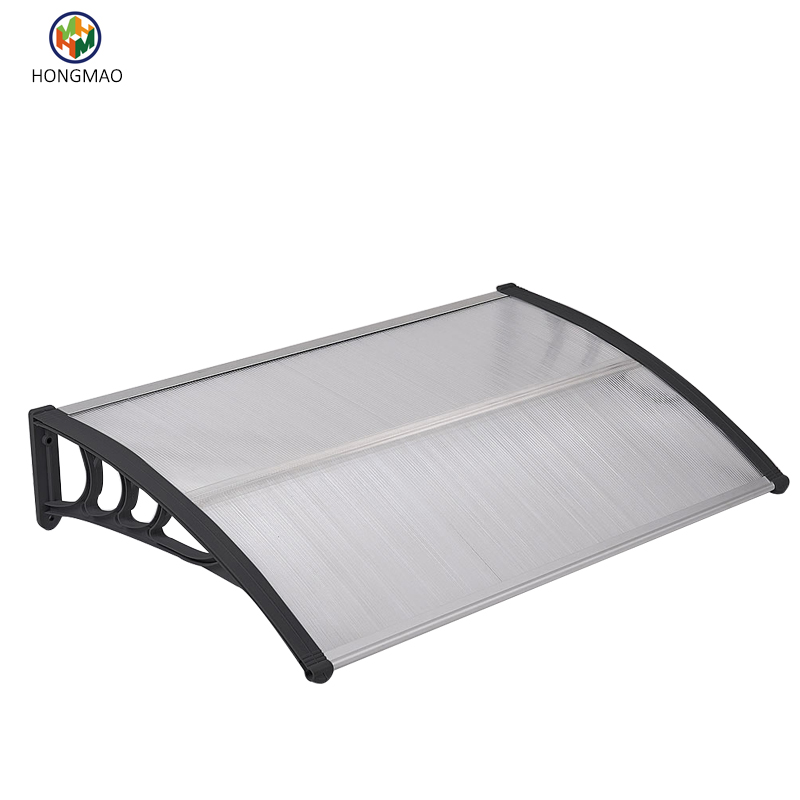 Transparent pavilion sun shade polycarbonate awning, outdoor canopy