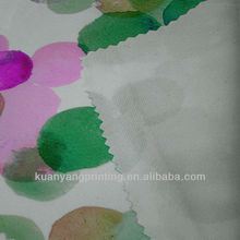 imitate the cotton velvet material poly pot print knitted fabric textile lining