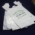 Large Volume Printed Plastic T-Shirt Bag