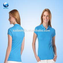 Cool women customized polo shirt/silk printing embroidery polo shirt/Cheap hot sale polo shirt