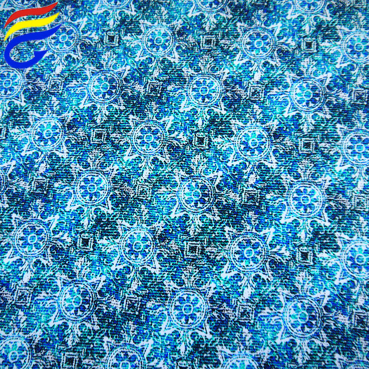 Wholesale 195gsm printed 4 way strech lycra swimsuit fabric
