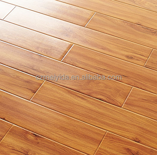 low price finished smooth royal vietnamese pine wood grain laminate flooring prices changzhou