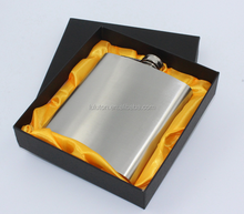 7oz JD Stainless Steel Liquor Hip Flask Alcohol Flask Box Gift Outdoor