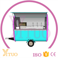 Mobile Fast Food Mobile Kitchen Hamburgers Food Van For Sale/Fried Ieam Machine Cart/ice Cream Truck For Sale