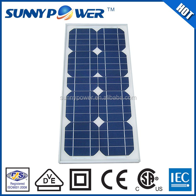 VDE Approved 25w solar panels prices