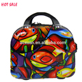 Customized ABS+PC Plastic lovely cute fashionable cosmetic bag make up bag tool bags