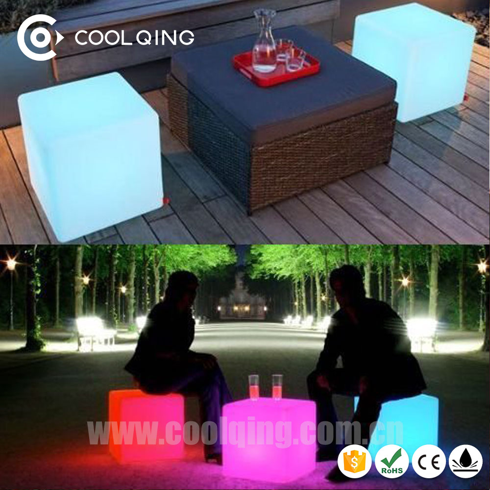 Free shipping Gmarket Weather!Event Party illuminated glowing plastic Light Cube Seat Led Outdoor Furniture