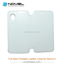 Cheap price full size 3D sublimation pu leather case for Nexus 5
