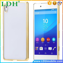 for Sony Z5 Transparent 0.5mm Ultra Thin Plating Hard Plastic PC Clear Case for Sony Xperia Z5 Slim Back Protective Phone Cover