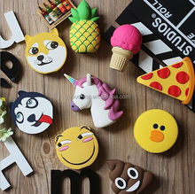 Emoji 2600mah Mobile Charger Power Bank, Unicorn Pineapple Starbucks Pizza Ice Cream Poop Portable Power Bank 2600mah Charger