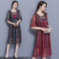 X61863A 2017 Fashion Korean Style Women High Quality Flare Sleeve Slim Dress