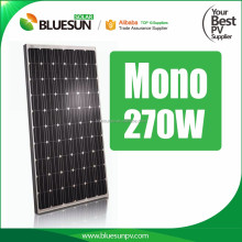 Bluesun 96cells 48v solar panel MONO 270 watt 125*125 solar cell