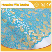 Free Shipping 2016 Hot Guipure African Cupion Lace Nigerian Fabrics for Wedding Dress