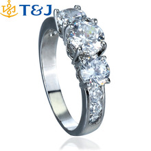 Latest Design Simple Korean Style Silver Plated Women Girl Elegant Zircon Fashion Wedding Rings