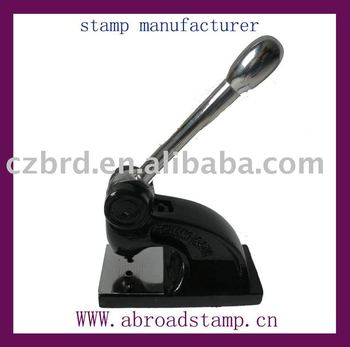 OEM manufacturing metal embossed stamp