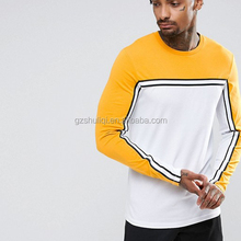 t shirt long sleeve custom t shirt printing for men plain white long sleeve yellow and white stripes t shirts