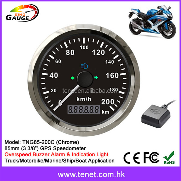 Bike/Motorbike/Motorcycle GPS Speedometer Waterproof IP66 85mm