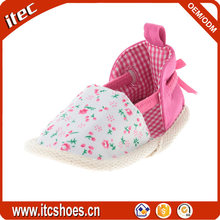 Newest style baby cotton clothing baby sandals with flowers