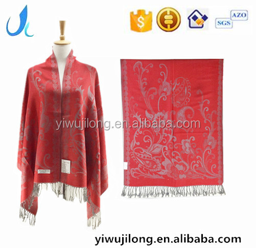 Red Pashmina Wool Shawl And Stoles For Girls
