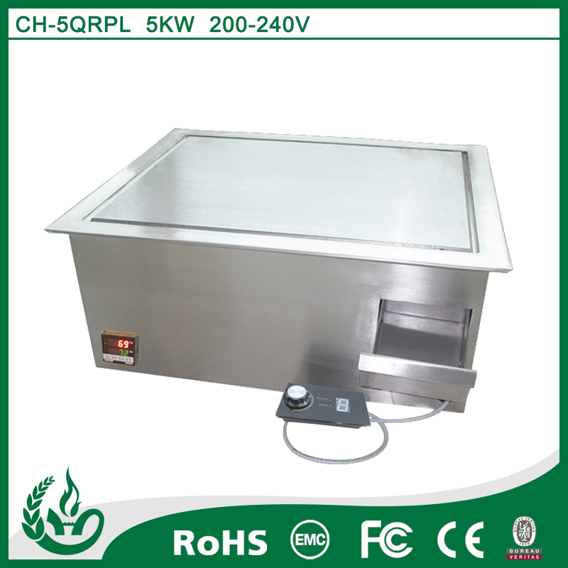 5000w Commercial stainless steel teppanyaki grill plate for kitchen of restaurant
