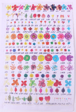 Many style and colors Dry flowers sticker for nail art accessories