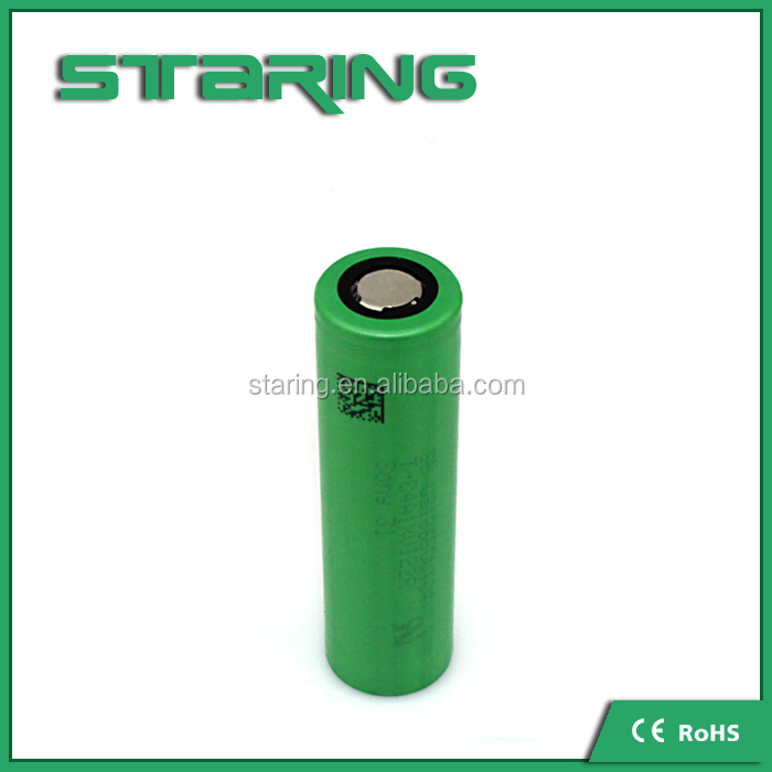 18mm*65mm Size 18650 VTC4 2100mAh 30A 3.7v the lithium li-ion battery for electric vehicle