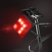 Cautionary red LED rear bike light for sport