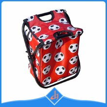 Wholesale comfortable travel red beach outdoor fold cooler bag chair