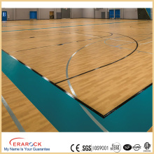 vinyl flooring wood plank for basketball / badminton court used floor pvc pu sports flooring