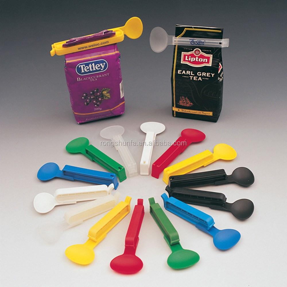 lagerung von lebensmitteln clip plastikt te verschlu klammern mit l ffel tascheklammer produkt. Black Bedroom Furniture Sets. Home Design Ideas