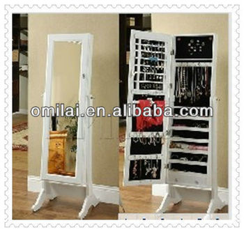 mordern free standing framed mirror armoire dressing mirror with cabinet