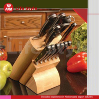 Morden Style High quality Unique 6pcs kitchen knife with wooden block