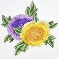 Yellow and purple applique embroidery design flower applique WEF-556