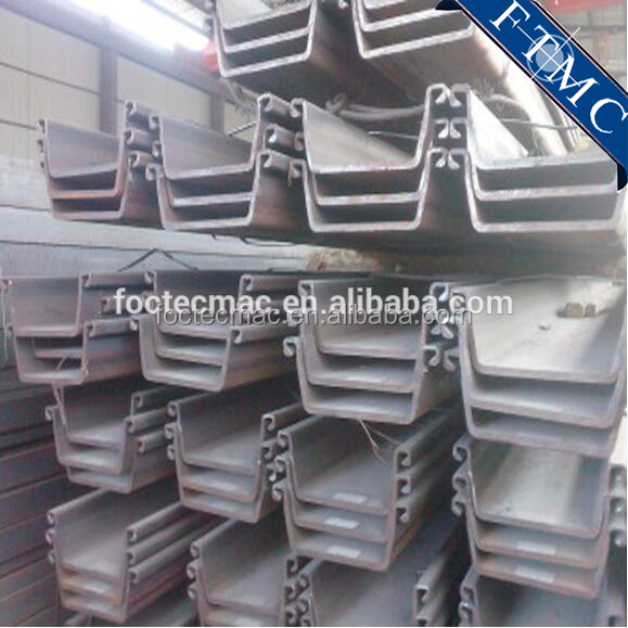400*85,500*200,600*130 JISA5523 Standard U-shaped Steel Sheet Pile Made In China