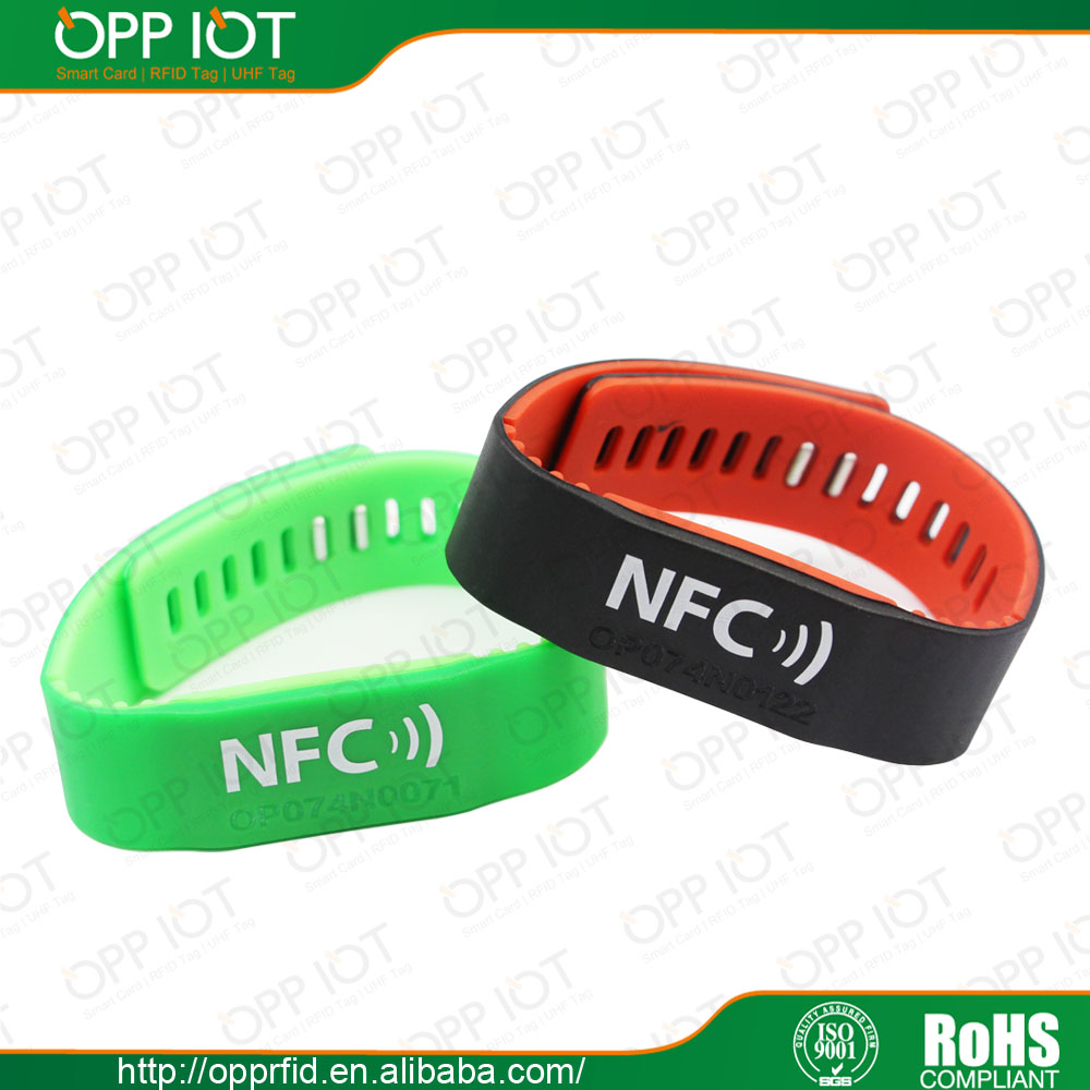 Chip Ntag203 Waterproof Silicon Rfid Wristband Rfid Led Wristband