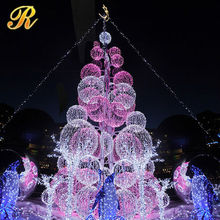 2016 Giant magic christmas paper tree christmas ball tree