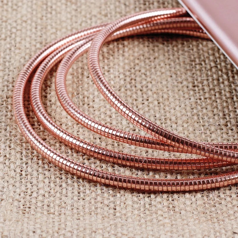 Metal Micro USB Cable Fast Charging Data Transfer Cable Wide Compatible with Android and other Devices
