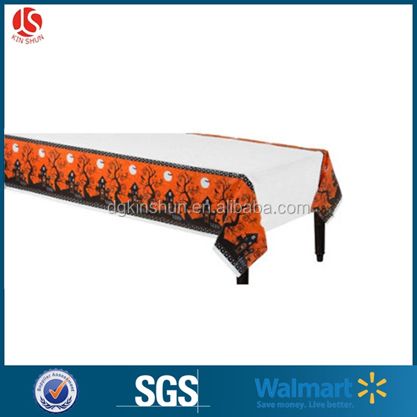 China Manufacturer Custom Design Table Cover /Table Cloth for Halloween Decoration