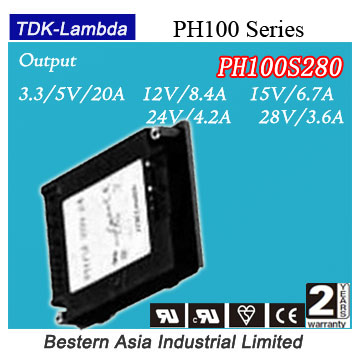variable output dc power supply design PH100S280-28 Lambda