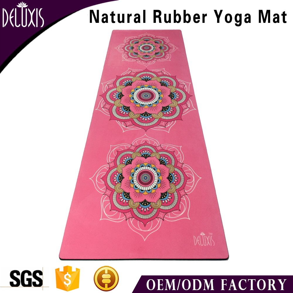 Thick eco friendly custom sublimation printed rubber suede kids yoga mat manufacturer