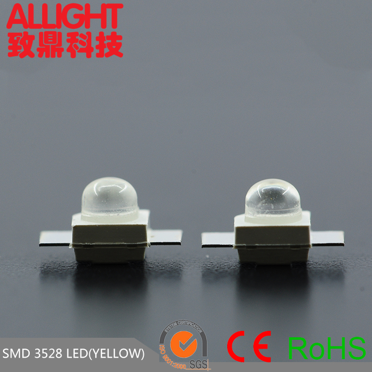 PLCC Top View 20mA 3528 SMD LED (narrow angle) yellow LED