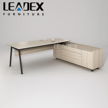 L shape wood panel style office furniture executive table manager desk