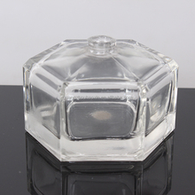 wholesale clear 90ml unique shaped refillable glass empty perfume bottles for sale