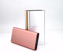 Hot selling dual usb Aluminum alloy power bank slim rohs power bank for Iphone 8/8S/X