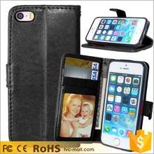 Wholesales Wallet Leather Stand Case for iPhone 5 / SE / 5s