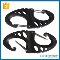 Different sizes of plastic small carabiner hook,mini carabiners