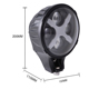 Truck Accessories 6 inch 4x4 12v 24V ATV Car Forliftt 60w+6W colorful Round Shape Led Work Light