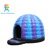 New design blue and purple kids DJ dancing inflatable disco dome jumper for sale