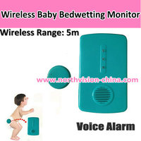 Good design baby urinate alarm with 3 LED flashing light and easy installation